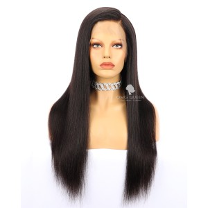 High Quality Hot 180% Density 360 Frontal Wig Malaysian Virgin Light Yaki Affordable Wig  [MTW04]