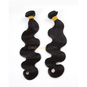 Virgin Indian Body Wave 2pcs Natural Color Hair Weave/Weft High Quality Hair [IHW12]