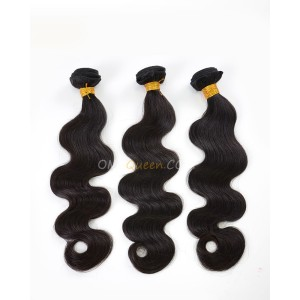 Clearance Natural Color Indian Virgin Hair Body Wave Bundles and Closure [SD34]