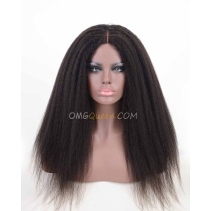 Good Quality Virgin Brazilian Hair Cheap Kinky Straight U-Shape Wigs [BUW04]