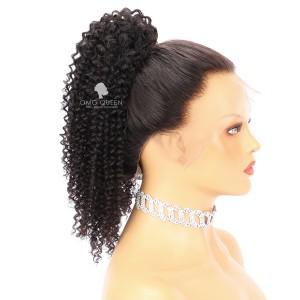 Virgin Human Hair Kinky Curly Drawstring Ponytail (3C/4A) [PN02]