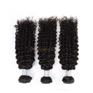 Curly Wave 3pcs Hair Weave/Weft Brazilian Virgin Natural Color Unprocessed Hair [BHW29]