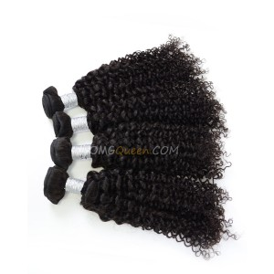 Virgin Brazilian Hair Natural Color Curly Wave 4pcs Hair Weave/Weft Unprocessed Hair [BHW37]