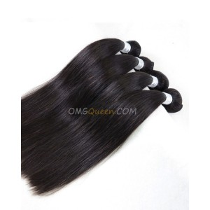 Brazilian Virgin Hair Silky Straight Natural Color 4pcs Hair Weave/Weft Unprocessed Hair [BHW31]