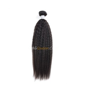 Natural Color Virgin Brazilian Kinky Straight 1pcs Hair Weave/Weft Unprocessed Hair [BHW08]