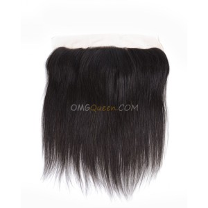Natural Color Virgin Brazilian Affordable Hair Silky Straight Lace frontal [BLF01]