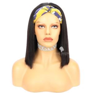 Yaki Straight Bob Wig Headband Wig Affordable Virgin Human Hair [HBW05]