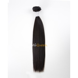 Natural Color Virgin Brazilian Yaki Straight 1pcs Hair Weave/Weft Unprocessed Hair [BHW02]