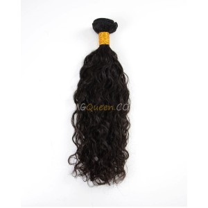 Natural Curly Natural Color Indian Virgin 1pcs Hair Weave/Weft High Quality Hair [IHW04]