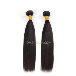 Natural Color Indian Virgin Yaki Straight 2pcs Hair Weave/Weft High Quality Hair [IHW16]