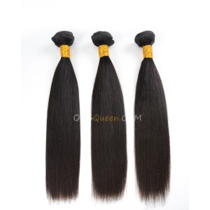 Natural Color Indian Virgin Yaki Straight 3pcs Hair Weave/Weft High Quality Hair [IHW26]