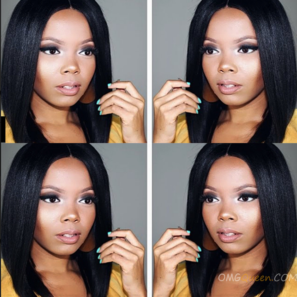 150% Density Inspired Virgin Brazilian Light Yaki Bob Lace Wigs [BMW04]