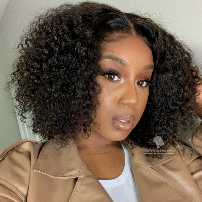 Affordable Glueless Layered Curly 360 Bob Lace Wig Virgin Bazilian Human Hair [BMW26