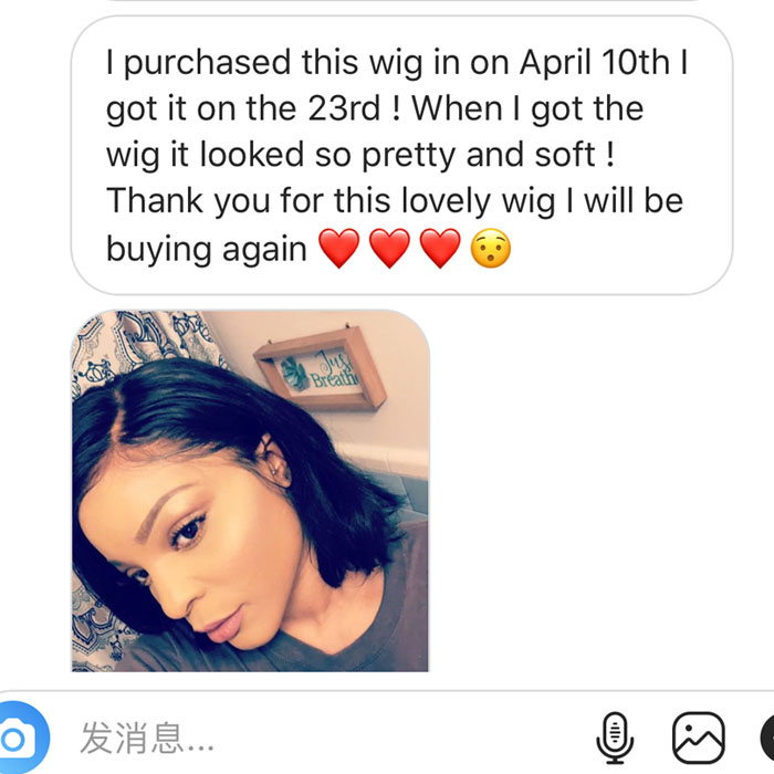 Affordable Natural Curved Part Everyday Wig Brazilian Virgin Lace Front Bob Lace Wig [BMW23