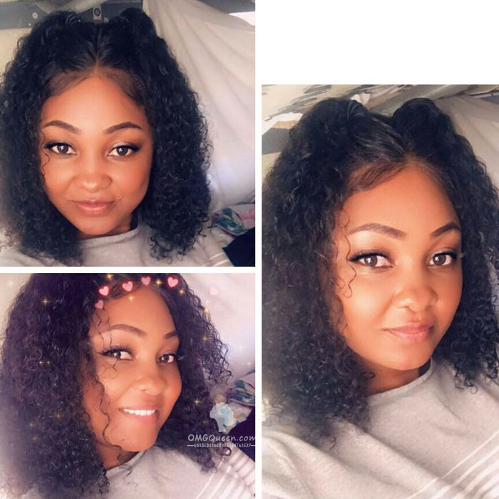 Boss Vivian Pre-plucked Jerry Curly 360 Lace Frontal Wig Affordable Virgin Brazilian Human Hair [BTW09]
