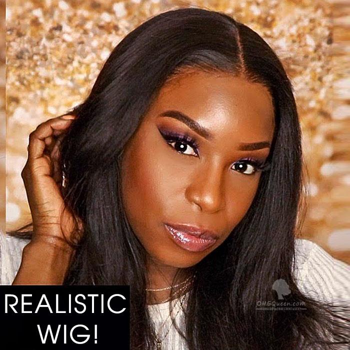 Hot 180% Density 360 Frontal Wig Virgin Brazilian Light Yaki Good Quality Affordable Wig [BTW04
