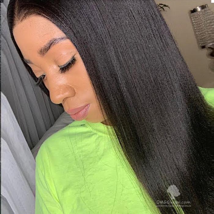 Hot 180% Density 360 Frontal Wig Virgin Brazilian Light Yaki Good Quality Affordable Wig [BTW04]