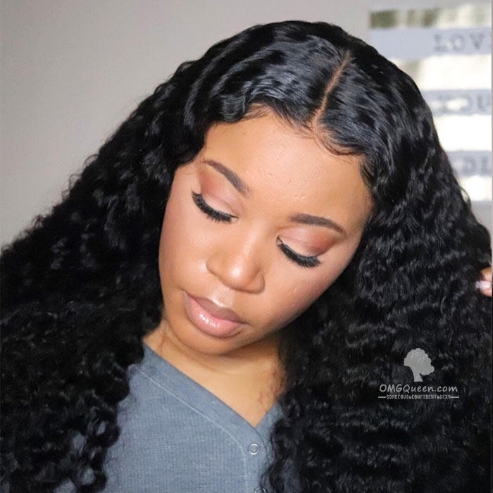 Victoria's Secret Curly Hairstyle Lace Front Wigs 200% Density Pre-plucked Human Hair [VS02]