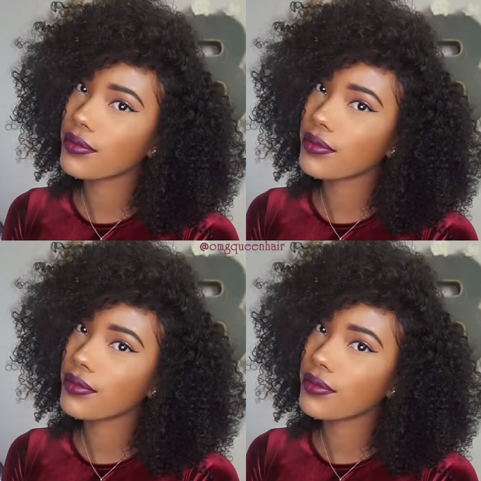 Virgin Brazilian Hair Kinky Curl Affordable Lace Front Wigs Good Quality [BLW09]