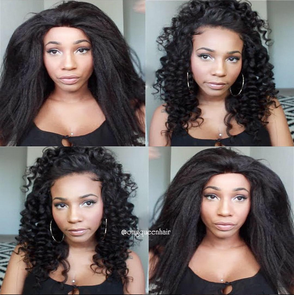 Virgin Brazilian Hair Kinky Straight Lace Front Wigs Unprocessed Hair [BLW06]