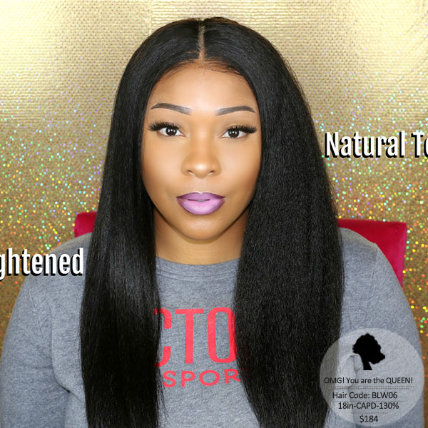 Virgin Brazilian Hair Kinky Straight Lace Front Wigs Affordable Hair [BLW06]