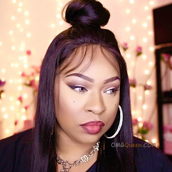 Virgin Brazilian Hair Yaki Straight Lace Front Wigs Affordable Good Quality Hair [BLW02]