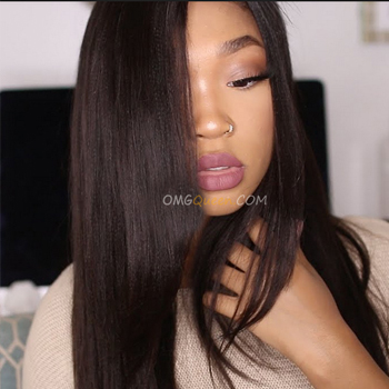 indian virgin yaki straight silk top lace wig