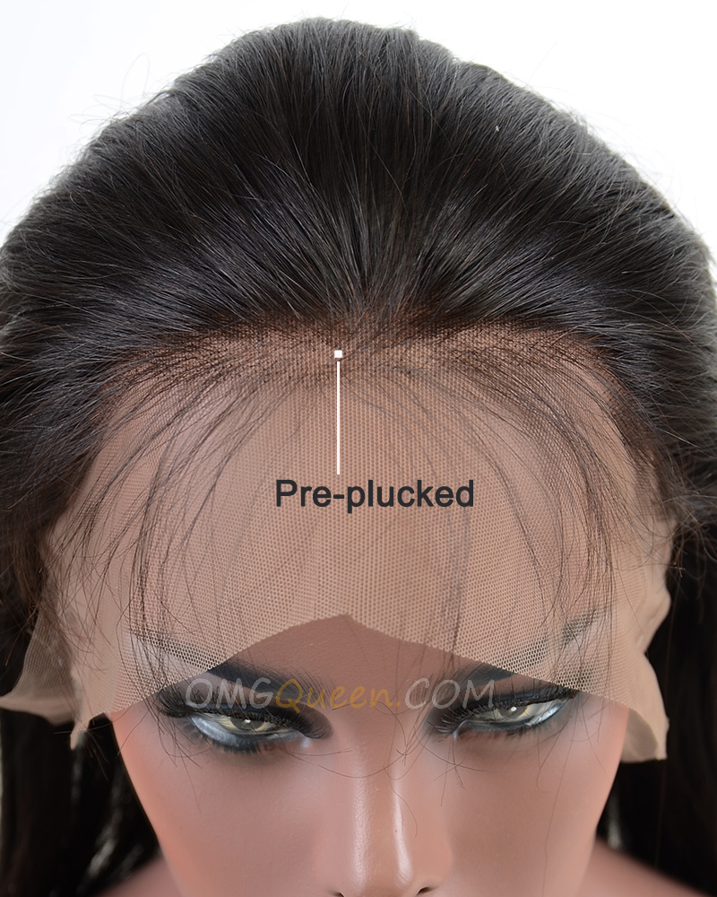 Pre-plucked hairline