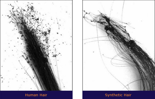 human hair and synthetic hair